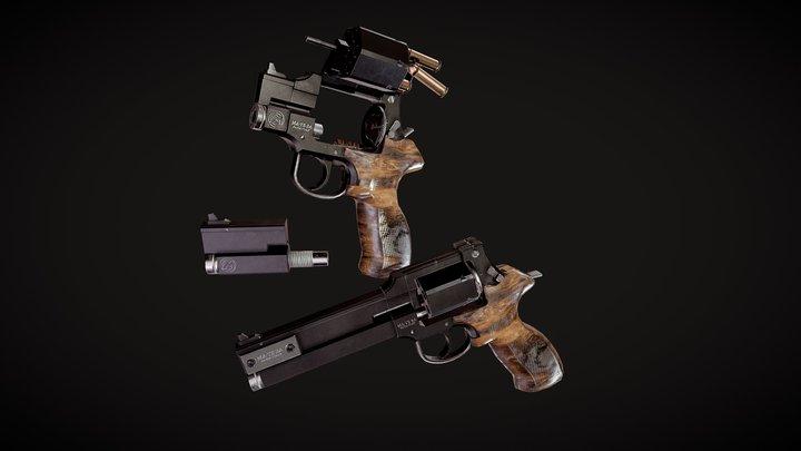 Mateba 2006M Revolver - Game ready lowpoly asset 3D Model