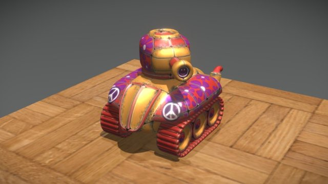 Quickie Hippie Tank 3D Model