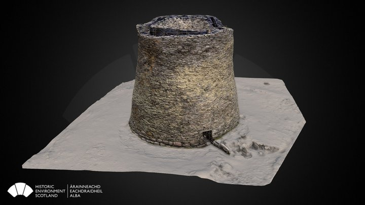 Mousa Broch, Shetland 3D Model