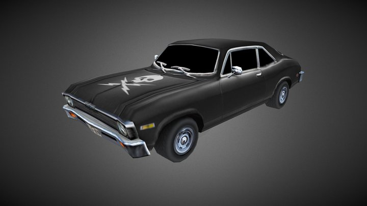 1970 Chevrolet Nova - Death Proof - Mobile Spec 3D Model