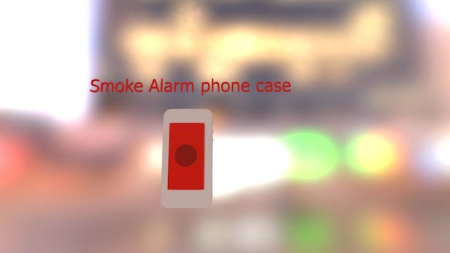 smart phone case +smoke alarm 3D Model