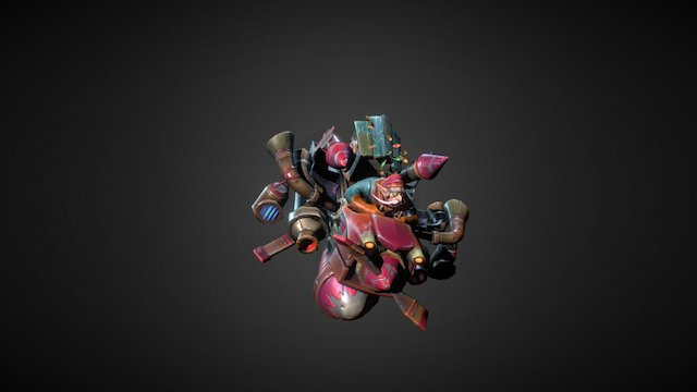 Dota 2 Workshop: Gyrotechnics MKII 3D Model
