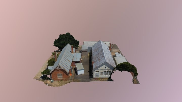St Mary's Hall and Scout Hall - Ararat 3D Model