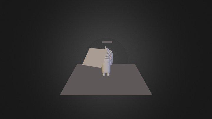 Personagem Uva 3D Model