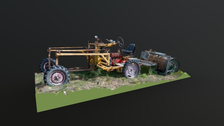 Unidentified Agriculture Vehicle 3D Model