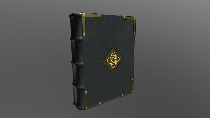 Medieval Book (Black) 3D Model