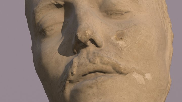 Sigge Wulff Death Mask 1869-1892 3D Model