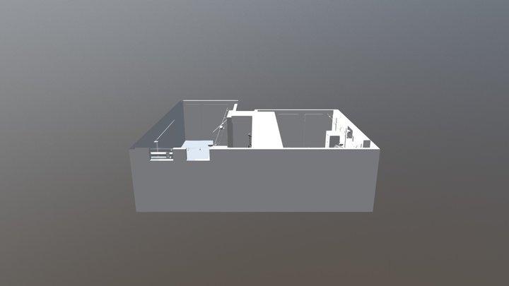 Studio Layout 01 WALLS NO FLOOR 3D Model