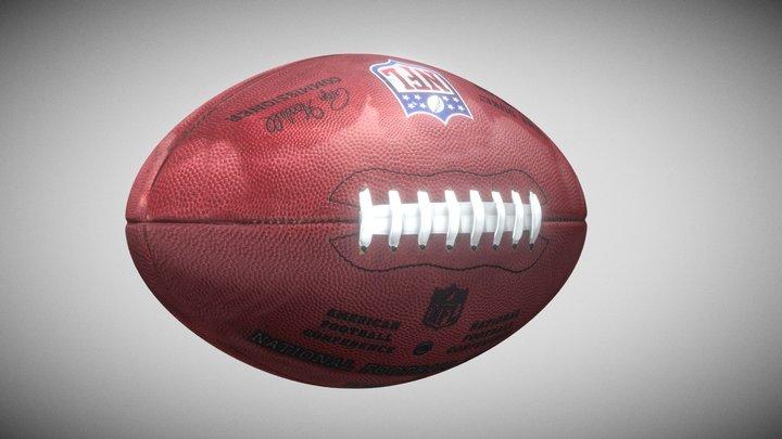 American football 3D Model