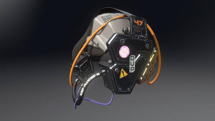 Cyberpunk Goggles V2 3D Model