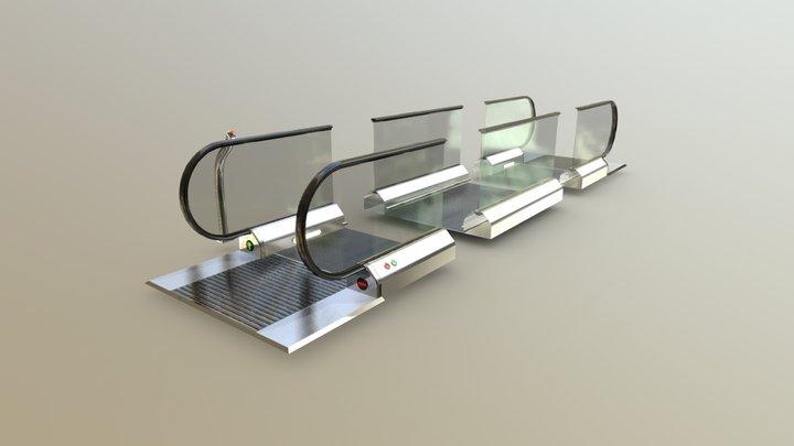 Flat Escalator ( travelator , slide bridge ) KIT 3D Model