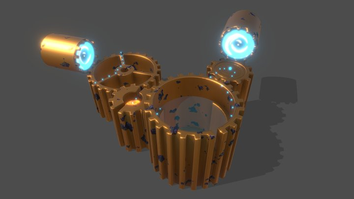 Gears Game Level 3D Model