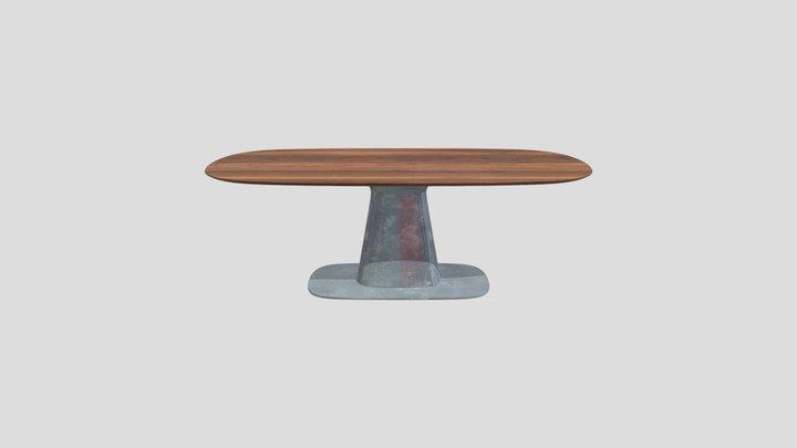 Mesa Oval 3D Model