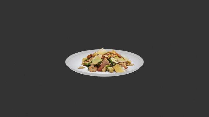 Caesar Salad With Shrimp 3D Model