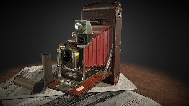 Folding Camera Kodak 3D Model
