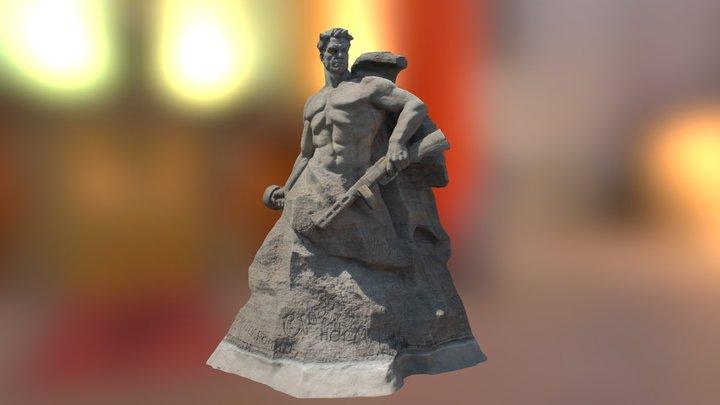 """Скульптура """"Стоять насмерть!"""" 3D Model"""