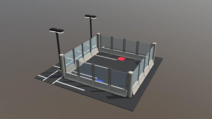 Parking Lot Arena 3D Model