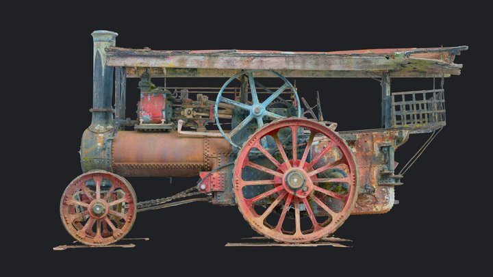 Marshall Steam Traction Engine 3D Model