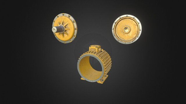 Electric motor structure 3D Model