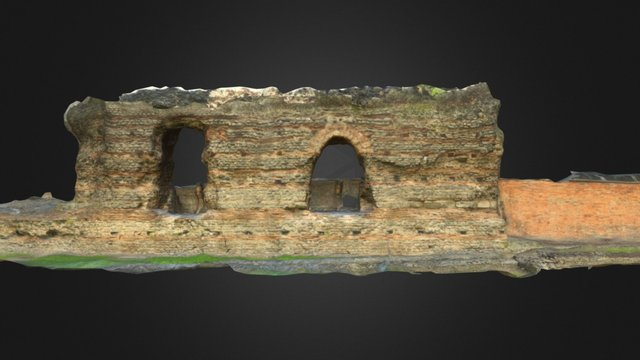 Jewry Wall 3D (no church) 3D Model