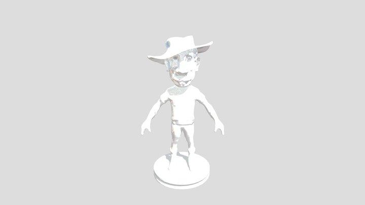 Farmer Man 3D Model