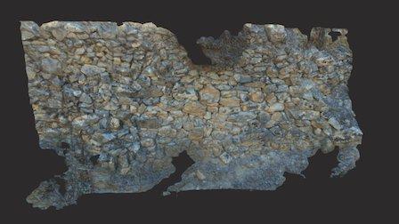 Escaneo Muro Antiguo de piedra con textura 3D Model