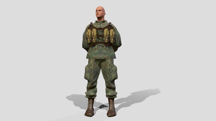 Soldier, blender rigged 3D Model