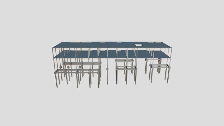 Projeto Estrutural - Edificação Residencial 3D Model