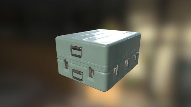 Metal case PBR 3D Model