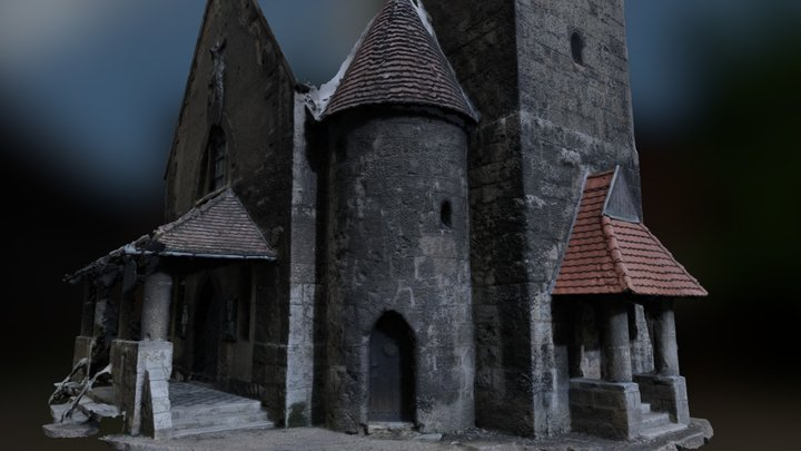 Haunted Church in Budapest (partial scan) 3D Model