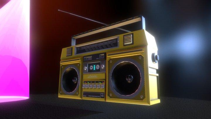 Retro Unitra RMS 404 Boombox 3D Model