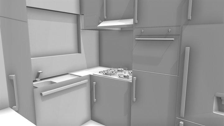 Kitchen Blockout 3D Model