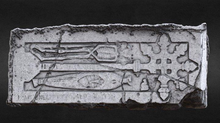 KD040-002033 - Effigy Tomb - Cadaver 3D Model