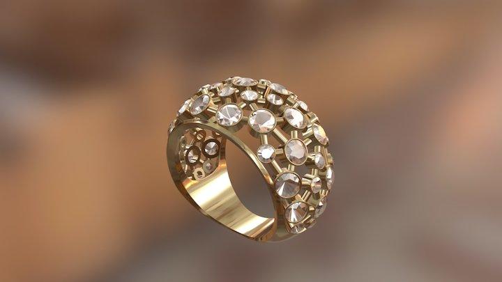 527 - Golden Ring 3D Model