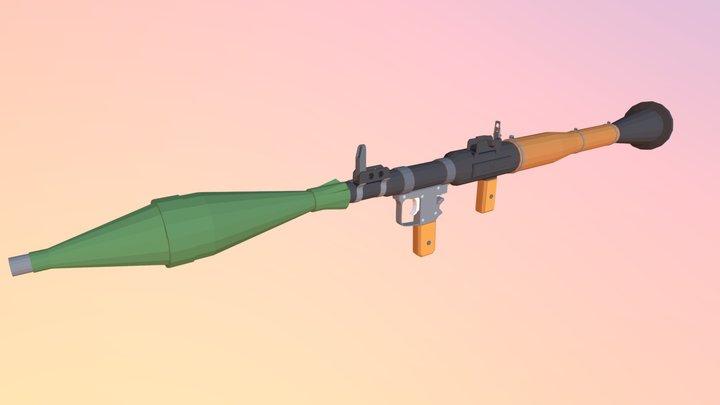 Low Poly RPG-7 3D Model