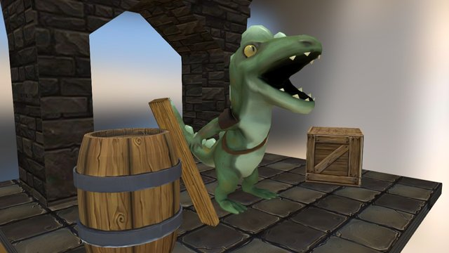 crocodile Boy 3D Model