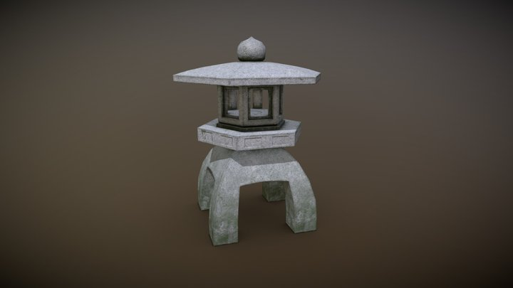 Stone Lantern 3D Model