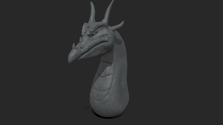 Dragon Head Sculpt Doodle 3D Model