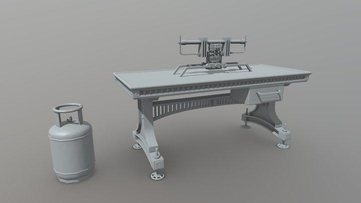 Homework Bake 3D Model