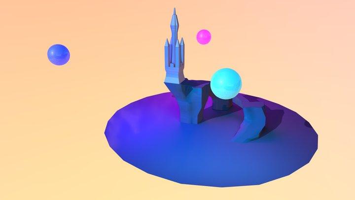 Simple castle 3D Model