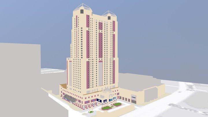 Marriot Rivercenter Hotel Working 3D Model