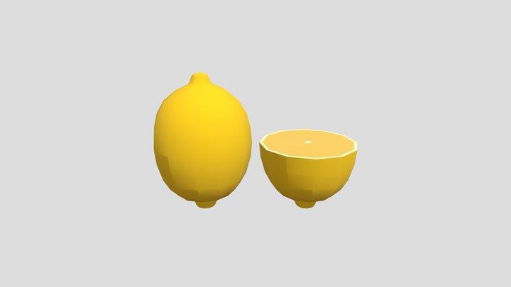 Lemon - Low Poly 3D Model
