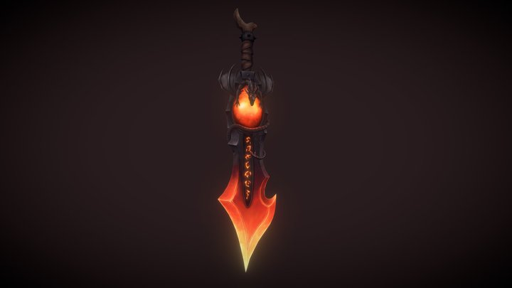 Flames of Deathwing - Stylized Weapon 3D Model