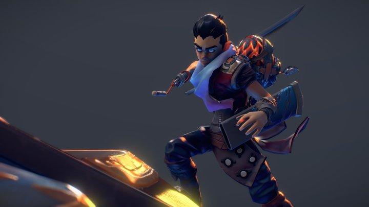 «Dragon Burrow» - Main Character 3D Model