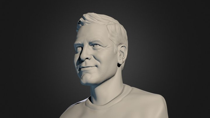 George Clooney 3D Model