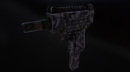 9MM UZI Submachine Gun 3D Model