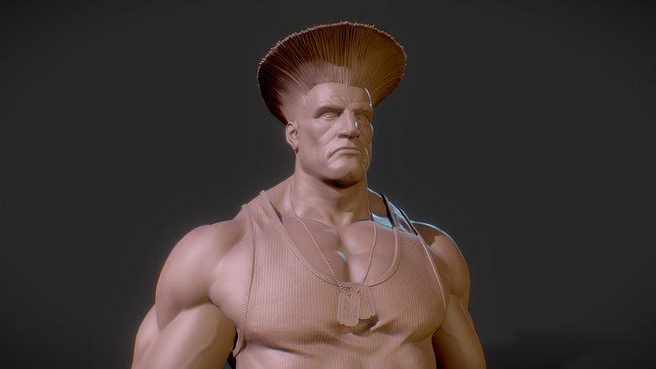 Guile Bust 3D Model