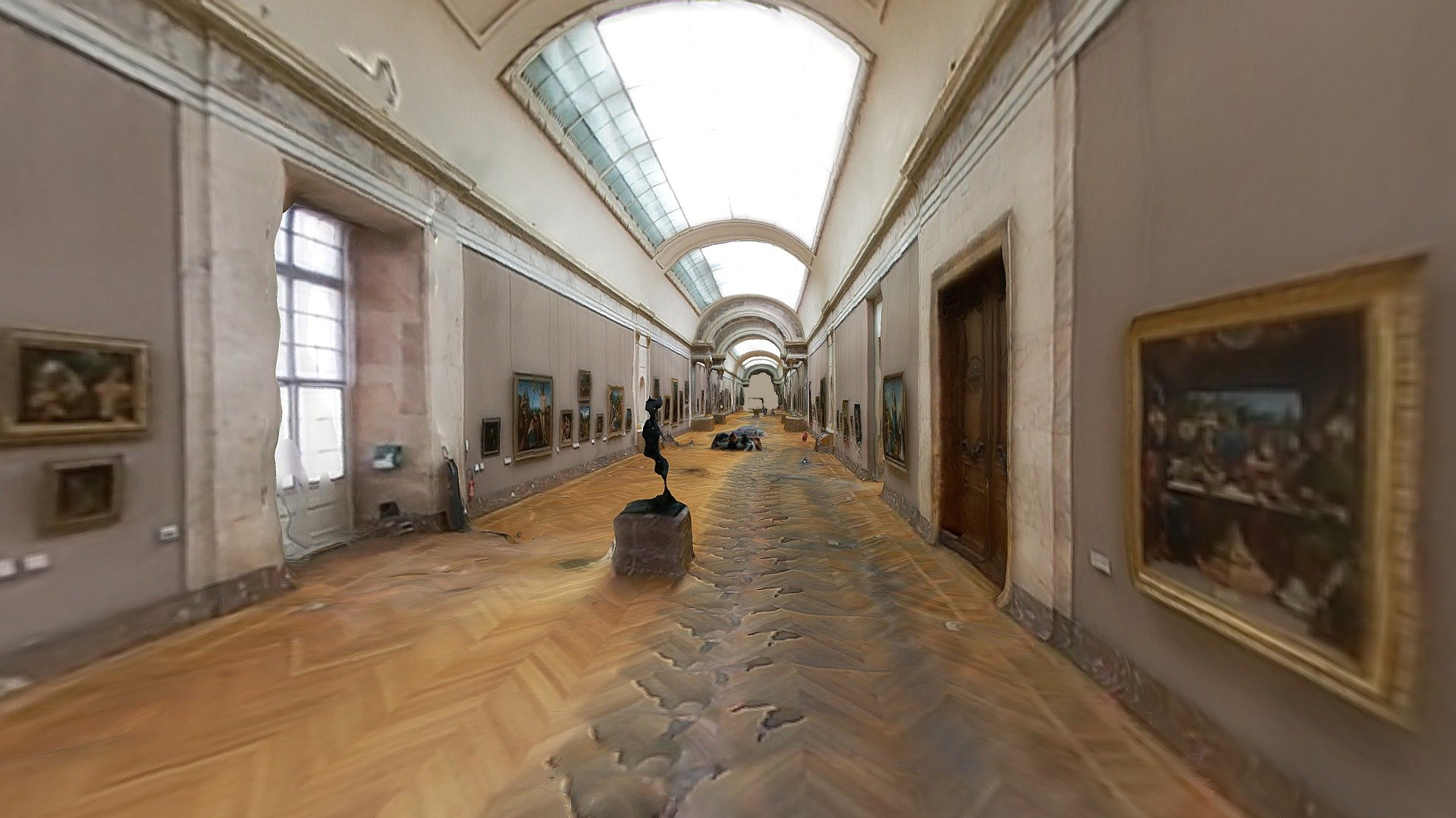 Louvre Paris Museum Buy Royalty Free 3d Model By Nikitos