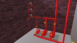 Instalação de bombas para combate à incêndio 3D Model