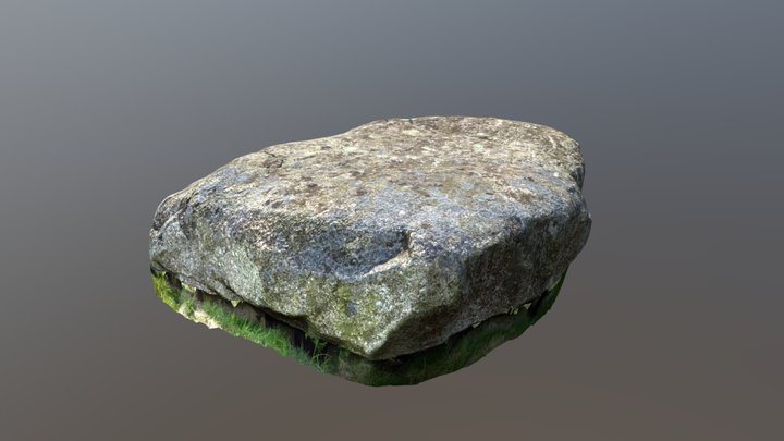 Capston on the Gravlegaard Dolmen on Mols 3D Model
